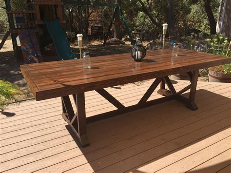 Pinspiration Mommy Diy Large Outdoor Dining Table