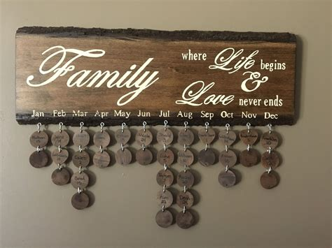 Pinterest Diy Wood Family Birthday