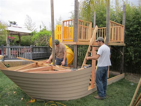 Pirate Boat Playhouse Plans