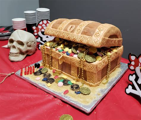 Pirate Treasure Chest Cake Template