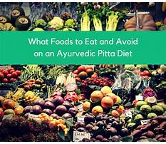 Best Pitta imbalance diet
