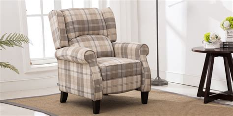 Plaid Fabric Recliners