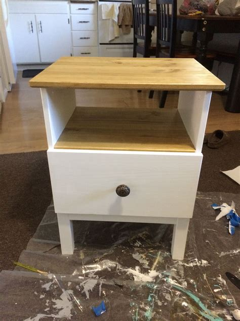Plain White Nightstand