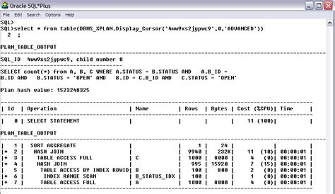 Plan-Table-Output-Oracle