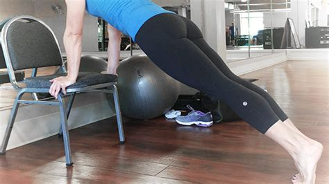 Plank Exercise On Chair
