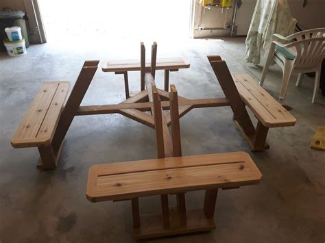 Plans For A 4 Sided Picnic Table