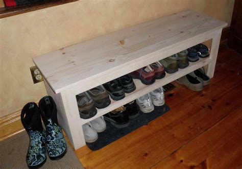 Plans For A Diy Shoe Rack With Bench