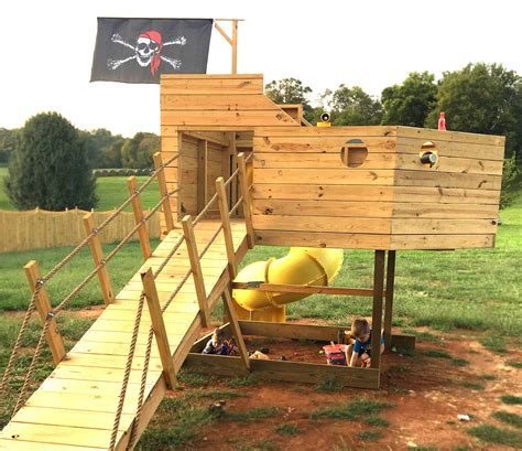 Plans For A Swing Set Playhouse Designs Pirate