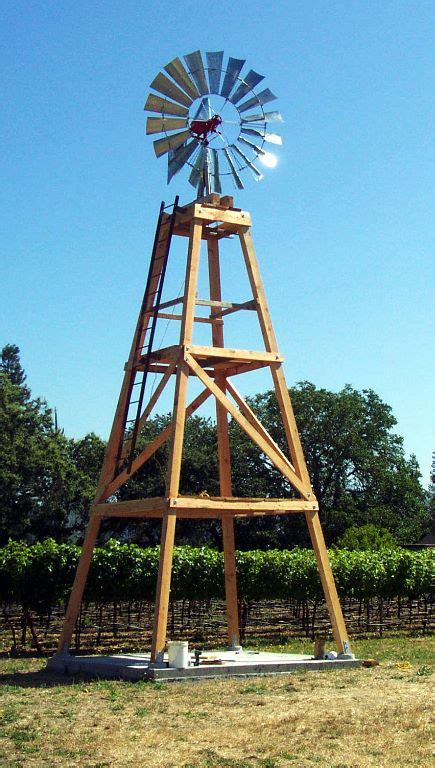 Plans For A Wooden Windmill Tower