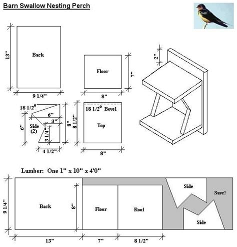 Plans For Bird Houses For Barn Swallows