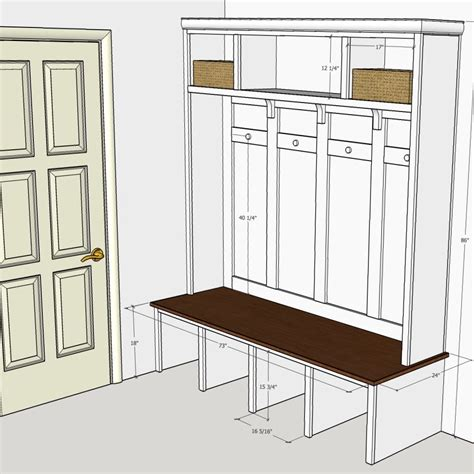 Plans For Building Mudroom Cabinet