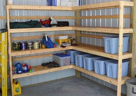 Plans For DIY Garage Shelves