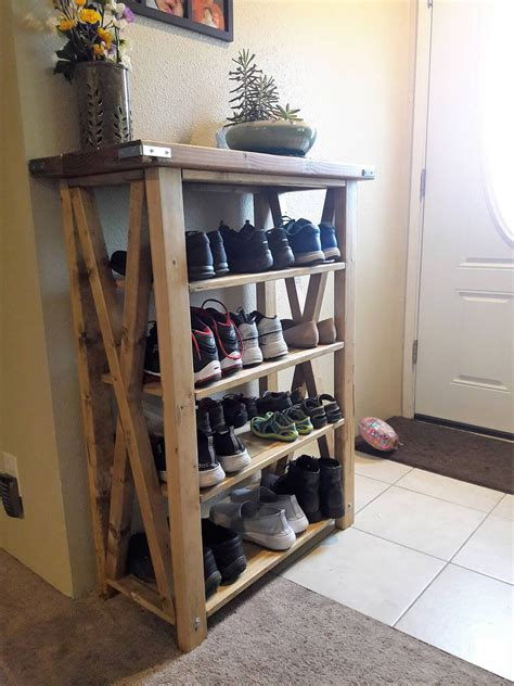 Plans For DIY Shoe Cubby Storage