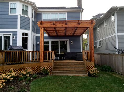 Plans For Decks With Pergolas