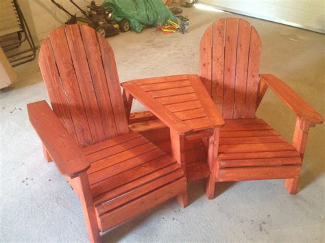 Plans For Double Adirondack Chair With Table