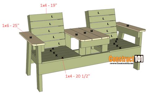 Plans For Double Bench Chair