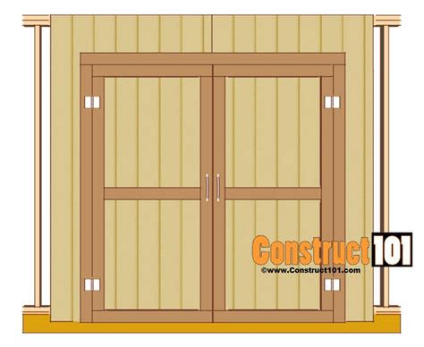Plans For Double Shed Door