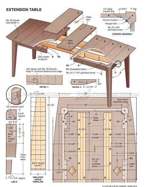 Plans For Extension Dining Table