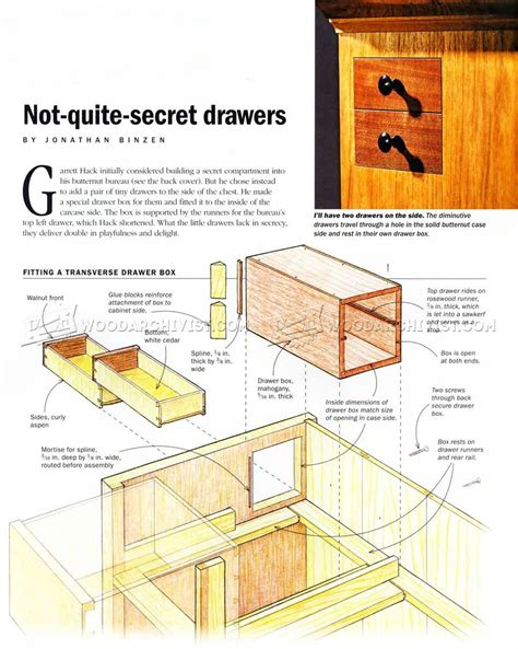 Plans For Furniture With Hidden Compartments
