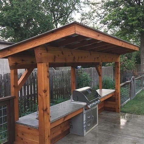 Plans For Outdoor Grill Station With Roof
