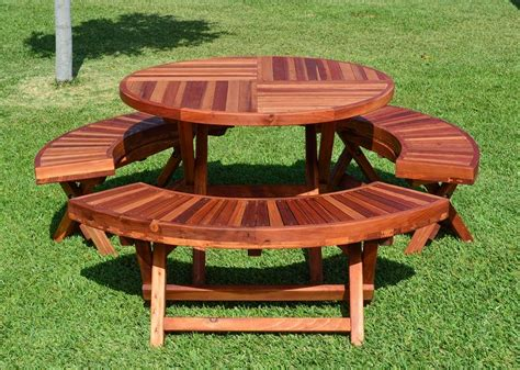 Plans For Round Picnic Table With Benches