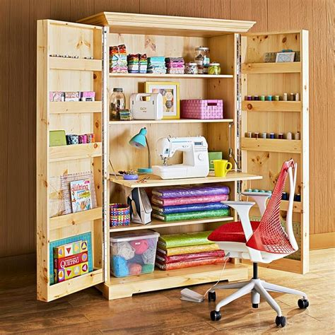 Plans For Sewing Cabinets With Storage