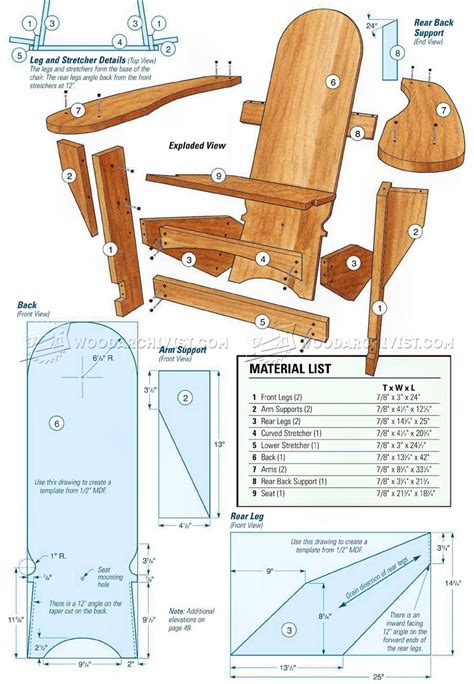 Plans For Westport Chairs