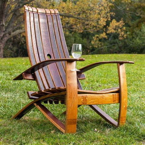 Plans For Wine Barrel Adirondack Chair