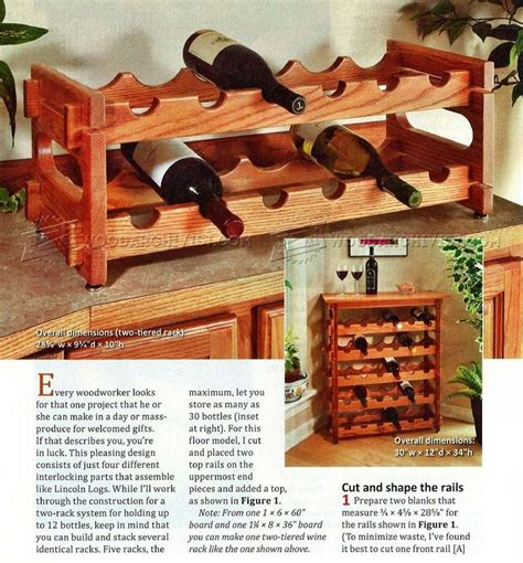 Plans For Wine Racks To Build