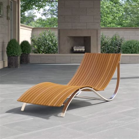 Plans Outdoor Curves Wooden Chaise Lounge