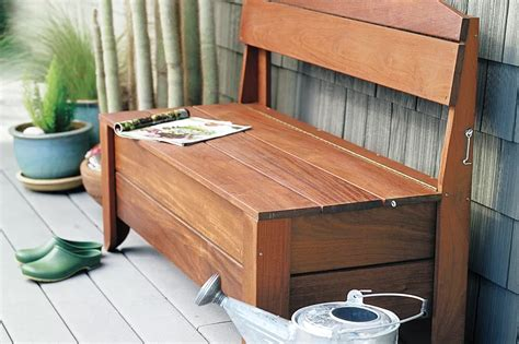 Plans To Build A Classic Wooden Storage Bench