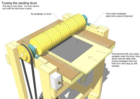Plans To Build A Thickness Drum Sander