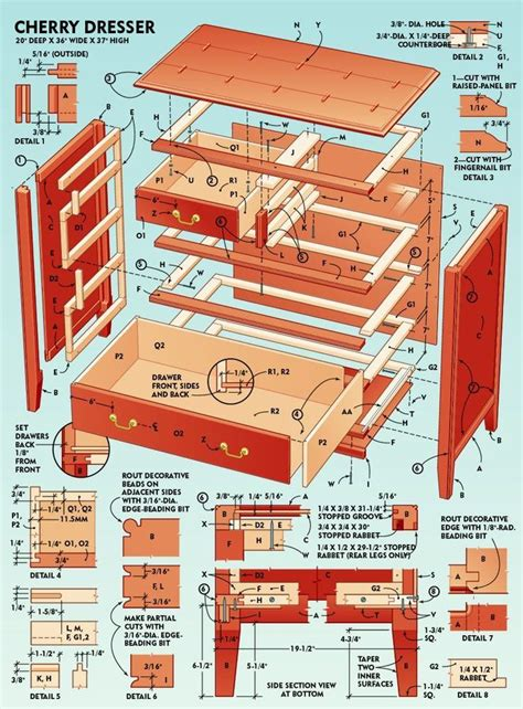 Plans To Build Dresser Drawers