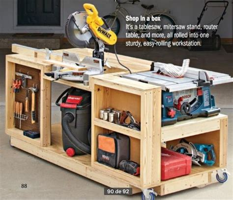 Plans To Build Your Own Workbench Garage Organizers