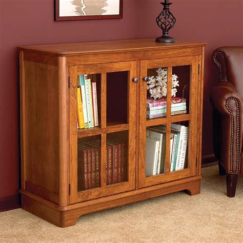 Plans To Make Bookshelf With Glass Doors