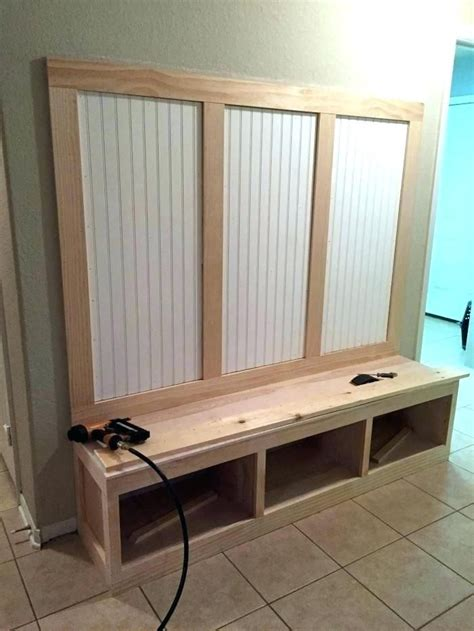 Plans for mudroom bench Image