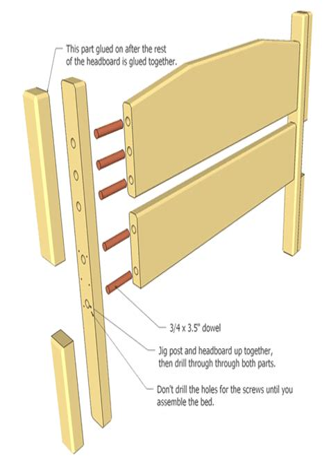 Plans-Bed-Frame-Wooden-Dowel-Headboard