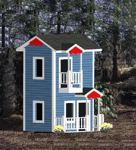 Plans-For-2-Story-Wooden-Playhouse