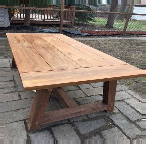 Plans-For-An-Outdoor-Farm-Table
