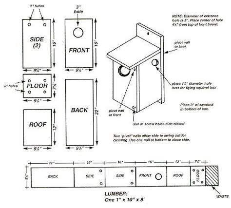 Plans-For-Building-A-Wood-Pecker-House