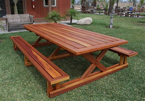 Plans-For-Picnic-Table-With-Attached-Benches