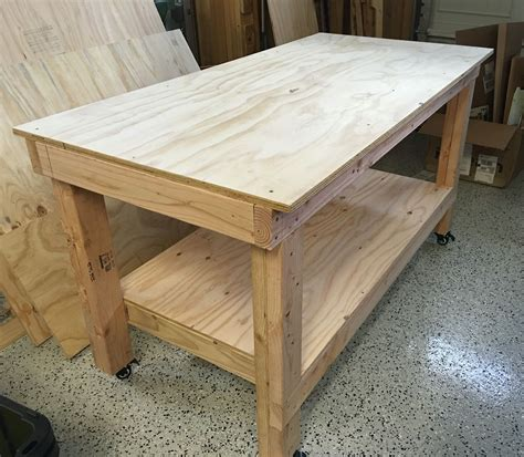 Plans-For-Wooden-Work-Table