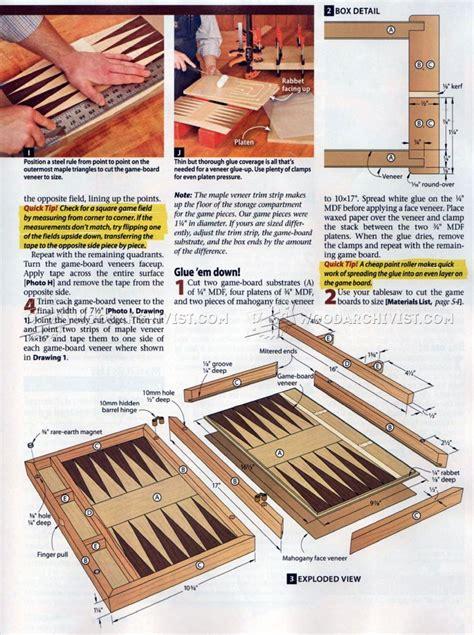 Plans-To-Make-Backgammon-Board