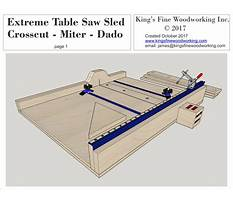 Best Plans for a table saw sled