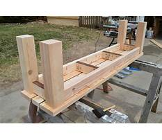 Best Plans for an outdoor wooden bench