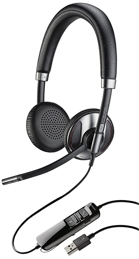 Plantronics 202581-01 Wired Headset, Silver/Black