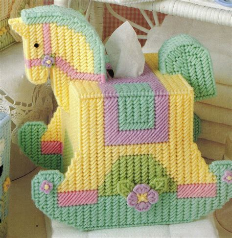 Plastic Canvas Rocking Horse Tissue Box Pattern