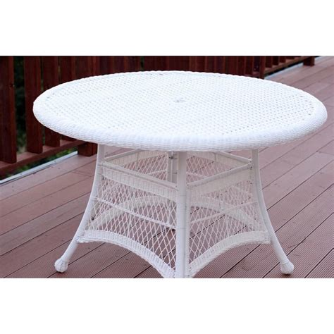 Plastic Woven Outdoor Dining Table With Chairs