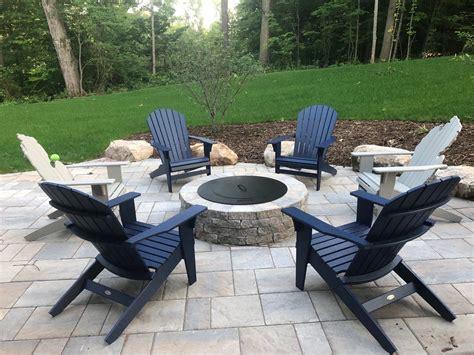 Plastic-Adirondack-Chairs-Around-Fire-Pit