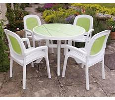 Best Plastic table and chairs for outside